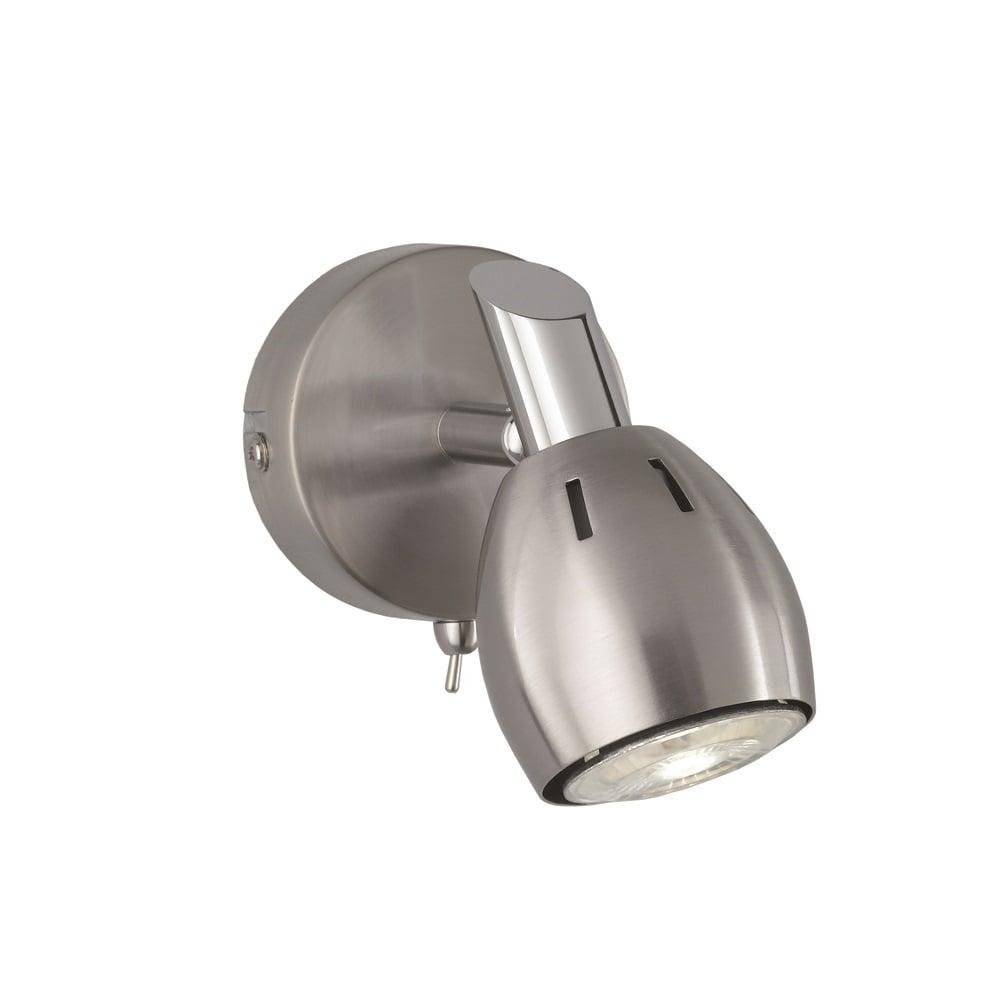 Tivoli Single Adjustable Wall Spotlight In Chrome Finish SPOT9001