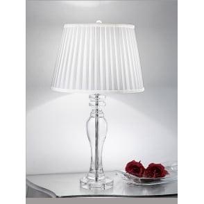 TL884 Hugo 1 Light Crystal Table Lamp In Chrome Franklite