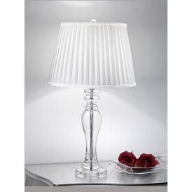 TL884 Hugo 1 Light Crystal Table Lamp In Chrome