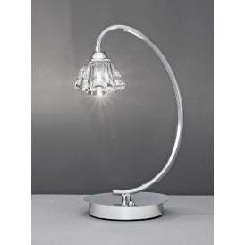 TL973 Twista 1 Light Chrome Table Lamp
