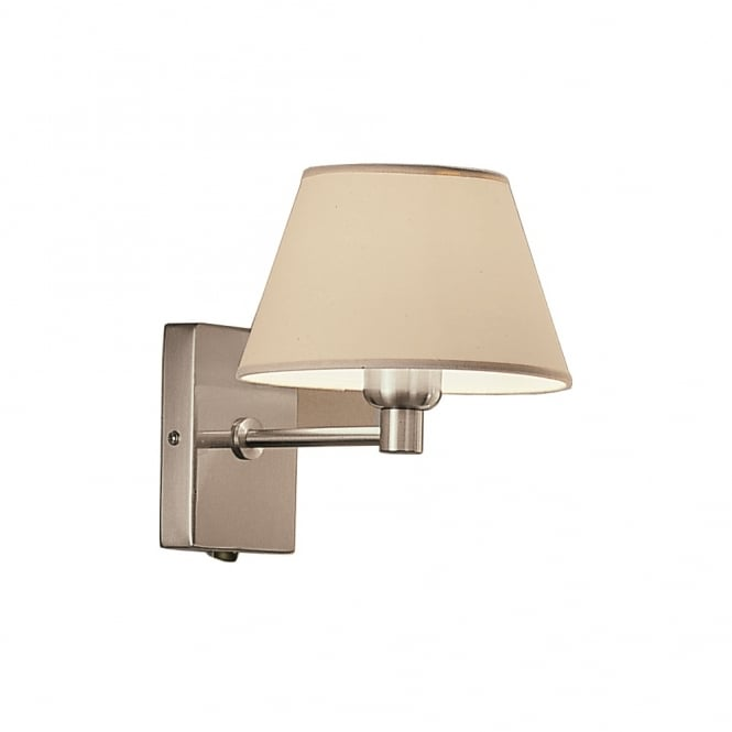 Franklite Lighting WB501/9002 1 Light Wall Light Finished in Satin Nickel