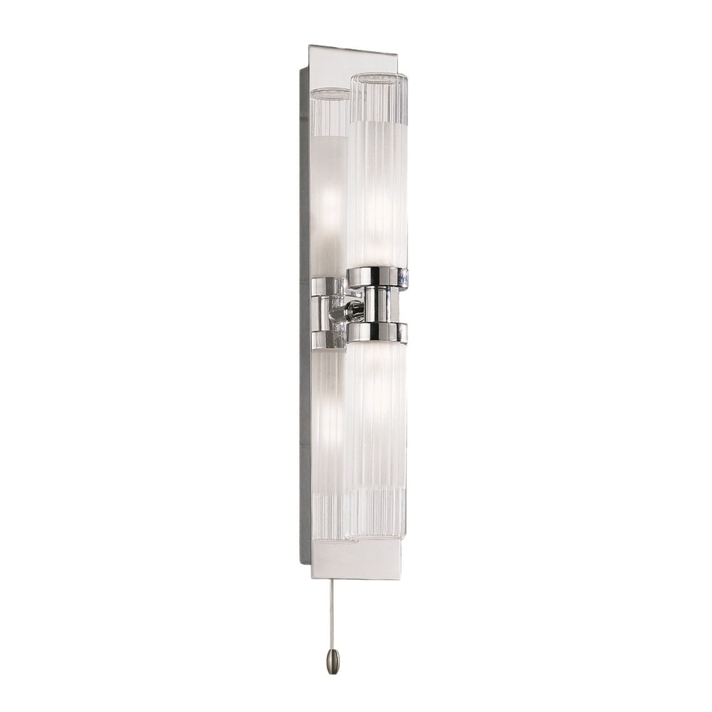 Franklite Lighting WB534 Chrome Bathroom Double Wall Light