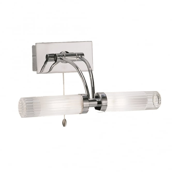 Franklite Lighting WB536 Chrome Bathroom Wall Light with Adjustable Arm
