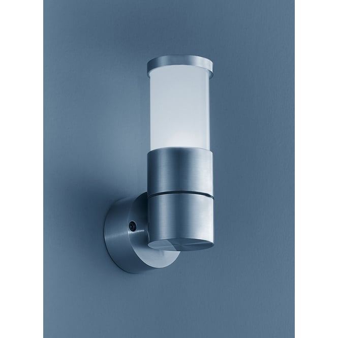 Franklite Lighting WB575 Nocturn Exterior Wall Light In Brushed Aluminium IP54