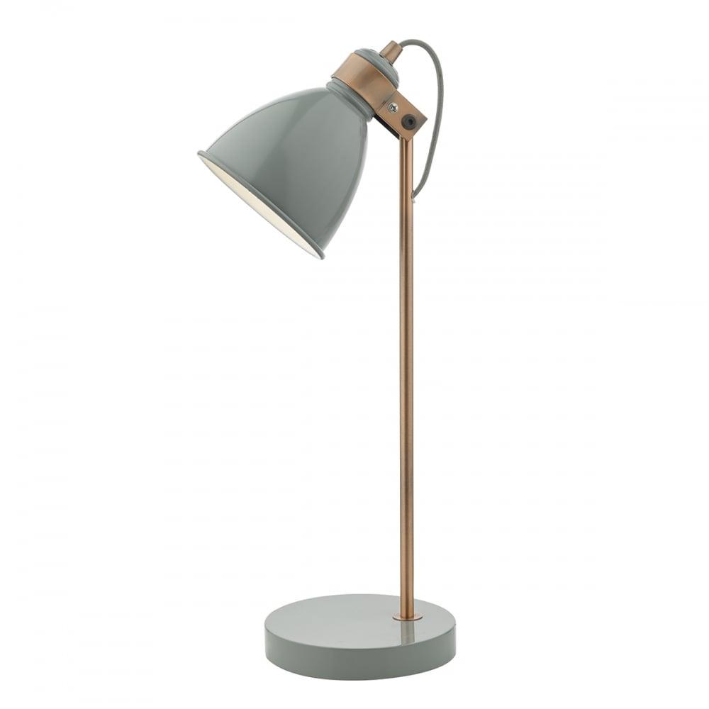 Dar lighting frederick adjustable desk lamp in grey and copper frederick adjustable desk lamp in grey and copper finish fre4239 aloadofball Images