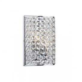 FRO0950 Frost 2 Light Chrome And Crystal Wall Lamp