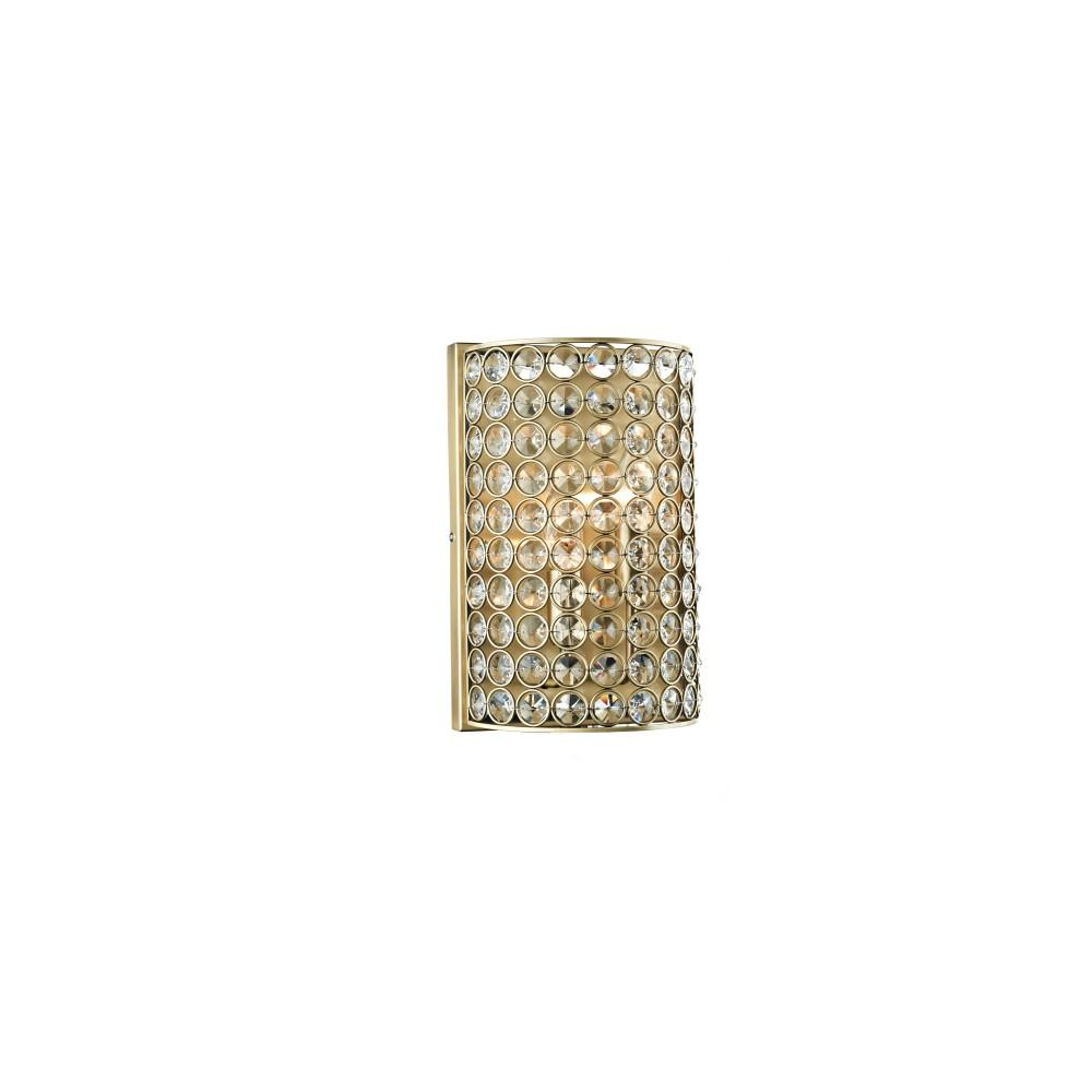 Dar Lighting Fro0975 Frost 2 Light Antique Brass And Crystal Wall