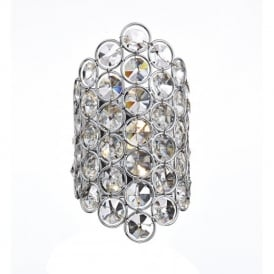 Frost 1 Light Chrome And Crystal Wall Light FRO0750