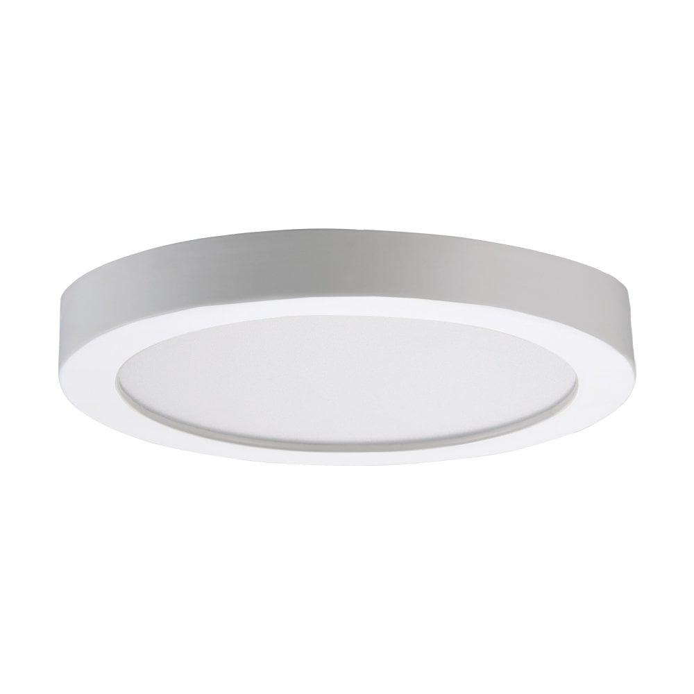 Fueva rw small led flush ceiling light in white finish 97115