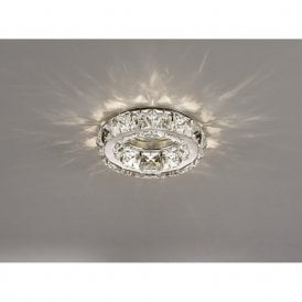 Galaxy Crystal Round Downlight In Polished Chrome Finish IL30836CH