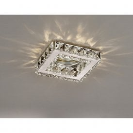 Galaxy Crystal Square Downlight In Polished Chrome Finish IL30837CH