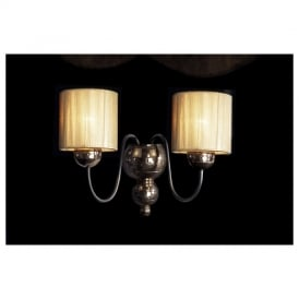 GAR0964 Garbo Double Wall Light with Gold Shades