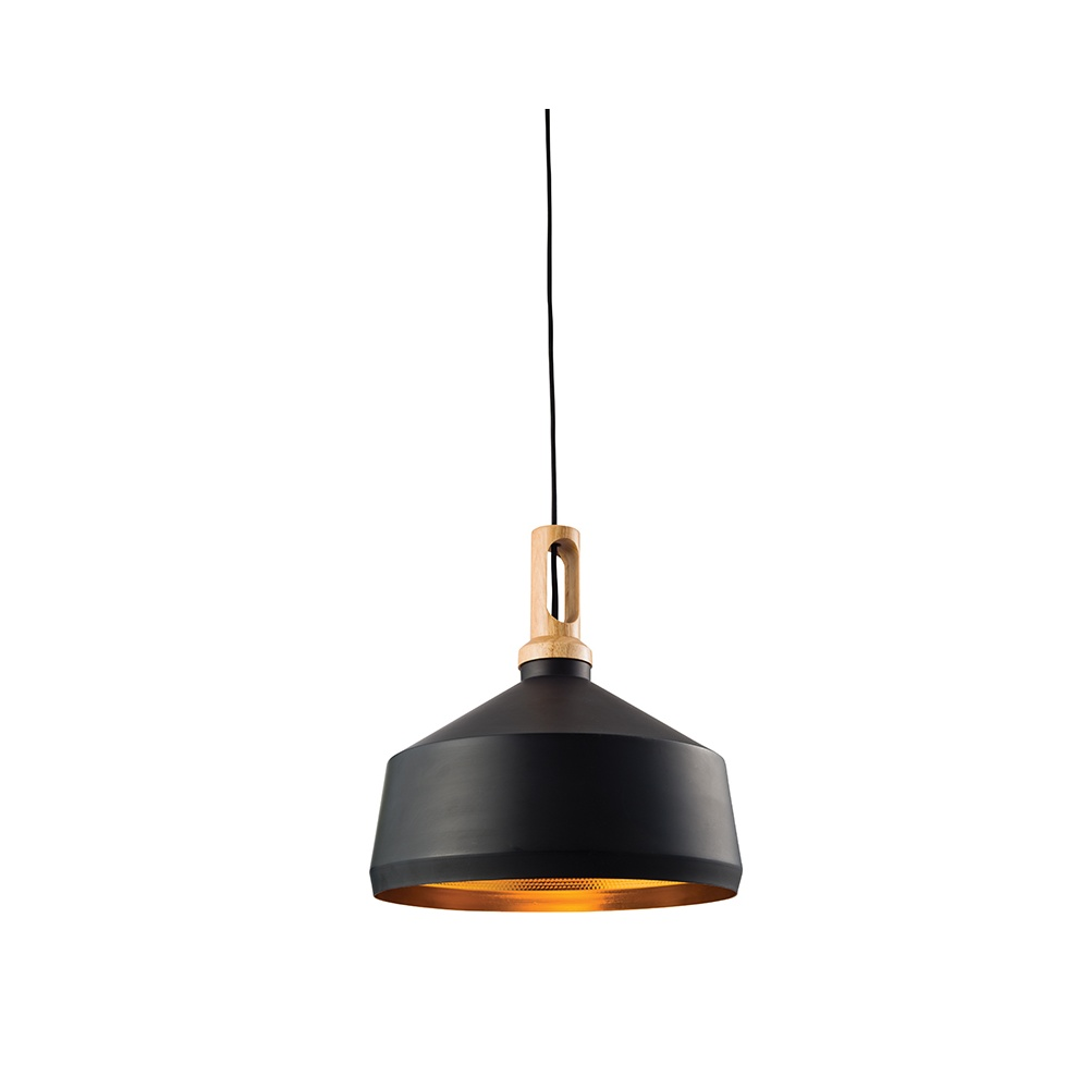 Endon garcia modern ceiling pendant light in black finish Modern pendant lighting