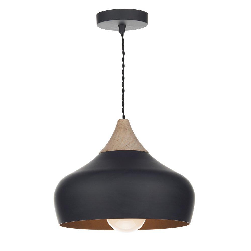 Dar Lighting GAU0122 Gaucho Black 1 Light Ceiling Pendant