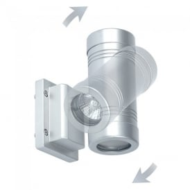 GD-710 Exterior Wall Light In Silver