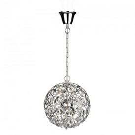 GEN6450 Geneva 6 Light Polished Chrome Pendant