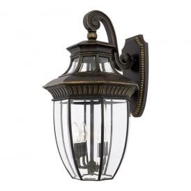 Georgetown Outdoor Large Wall Lantern In Imperial Bronze Finish QZ/GEORGETOWN2/L