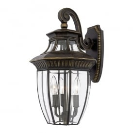Georgetown Outdoor Medium Wall Lantern In Imperial Bronze Finish QZ/GEORGETOWN2/M