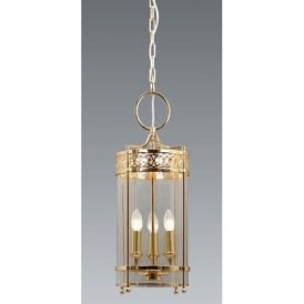 GH/P Guildhall Polished Brass Period Ceiling Lantern