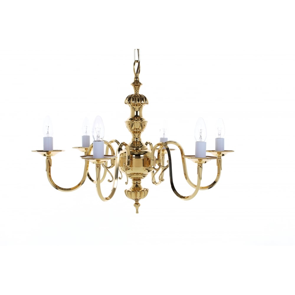 wholesale dealer a59e0 d4021 Ghent 6 Light Cast Brass Georgian Chandelier BF19106/06