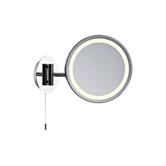 Dar lighting gibson round illuminated magnifying bathroom - Round bathroom mirror with lights ...