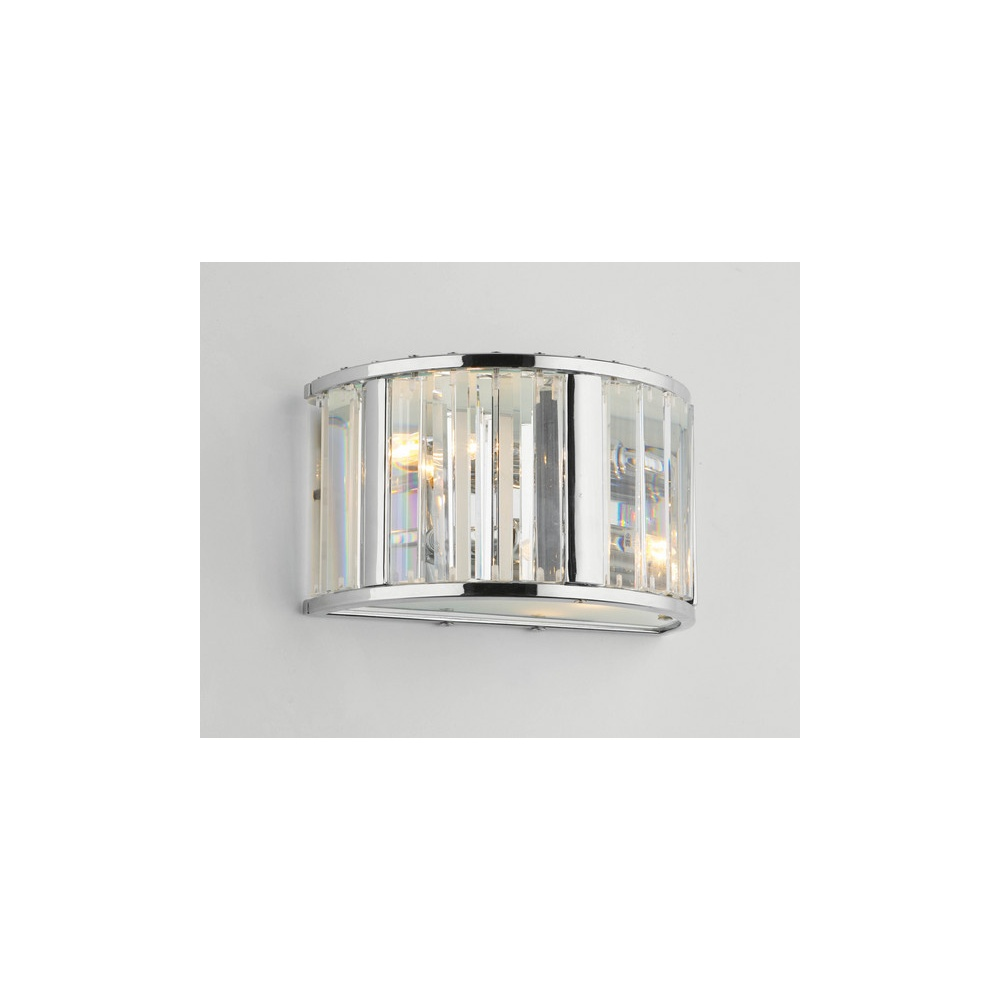Dar Lighting Wall Lights : Dar Lighting GLA0950 Glacier double wall light - Lighting from The Home Lighting Centre UK