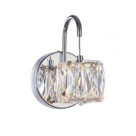 Glacier Modern Single Wall Light In Chrome Finish MB15030039-1A