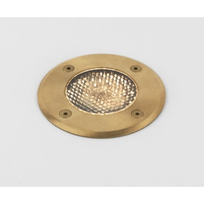 Astro Lighting Gramos Round Outdoor Decking Light In Natural Brass Finish IP65 7953
