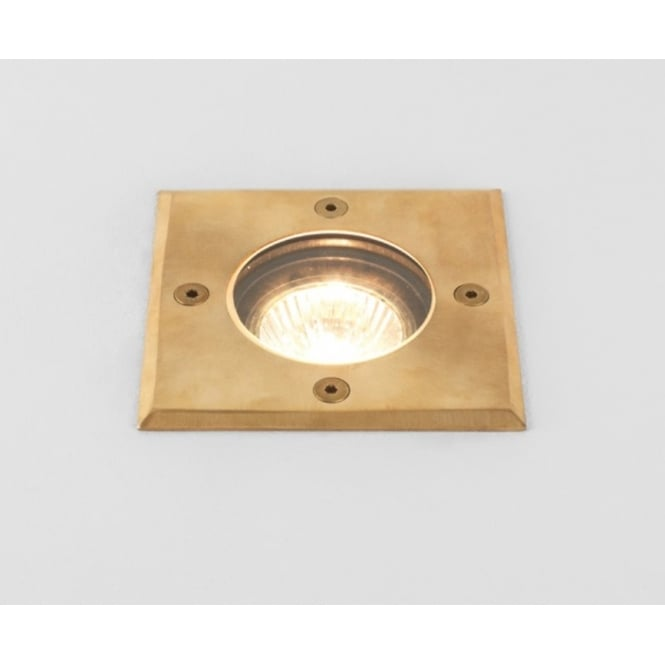 Astro Lighting Gramos Square Outdoor Decking Light In Natural Brass Finish IP65 7952