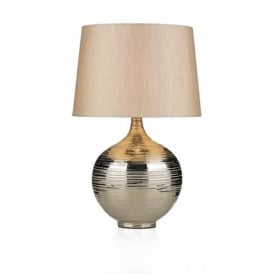 GUS4332 Gustav Large Table Lamp With Ceramic Silver Base