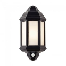 Halbury E27 PIR Exterior Wall Light In Black Finish IP44 EL-40115