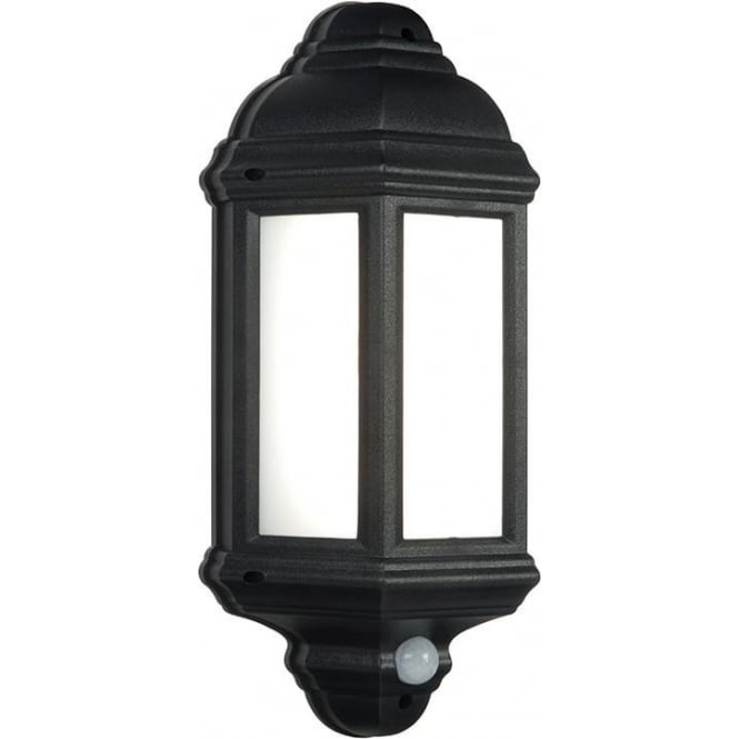 Endon Halbury LED PIR Exterior Wall Light In Black Finish IP44 54553 - Lighting from The Home ...