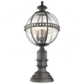 Halleron Outdoor Pedestal Lantern In Londonderry Finish KL/HALLERON/3M
