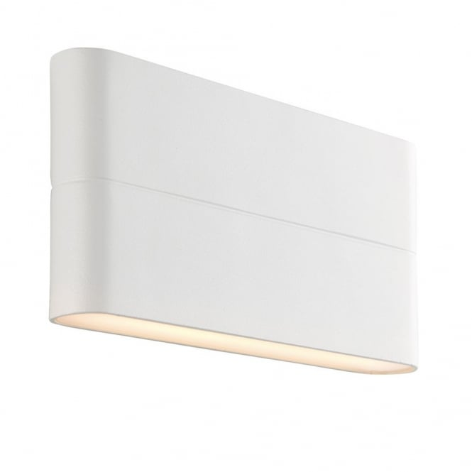 9000038141 69930 Endon Hanford Outdoor Led Up And Down Wall Textured White Finish Lighting