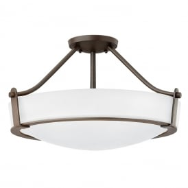 Hathaway Semi Flush Ceiling Light In Olde Bronze HK/HATHAWAY/SFMB