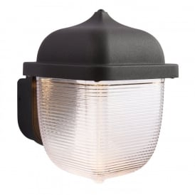 Heath LED Outdoor Wall Light In Textured Black And Frosted Diffuser 70191