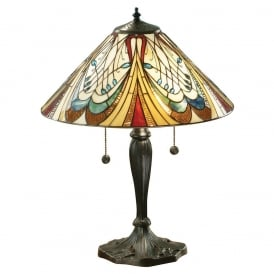 Hector Tiffany Medium Table Lamp In Art Nouveau Style 64163