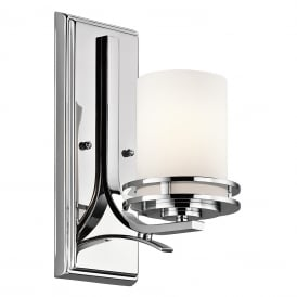 Hendrik Modern Bathroom Wall Light In Polished Chrome Finish KL/HENDRIK1 BATH