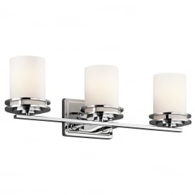 Hendrik Triple Bathroom Wall Light In Polished Chrome Finish KL/HENDRIK3 BATH