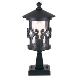 Hereford Outdoor Pedestal Light In Black Finish BL12