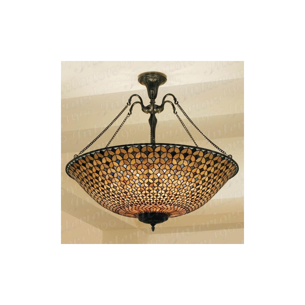 Hestia TG68P 6 Light Mega Tiffany Pendant Ceiling Light
