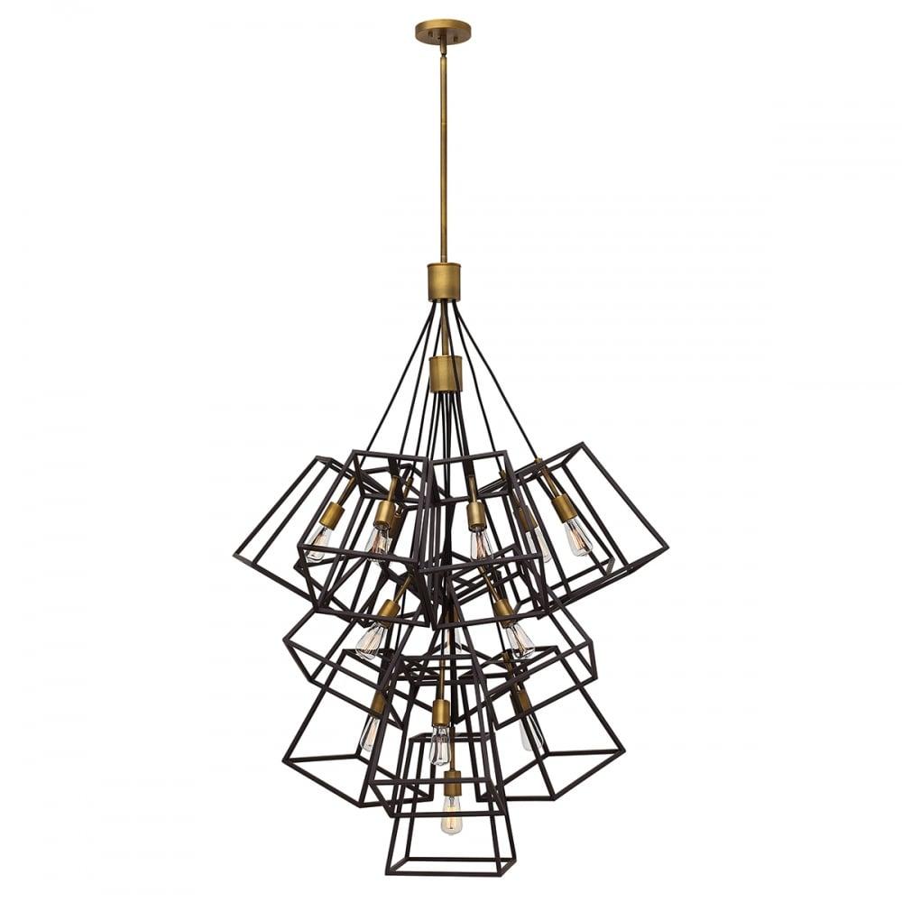 hinkley fulton 13 light large foyer chandelier in bronze finish hk