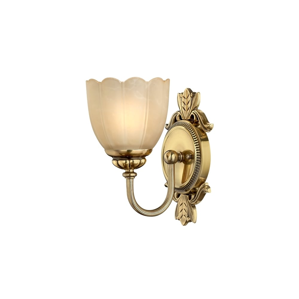 hinkley isabella classic single bathroom wall light in burnished