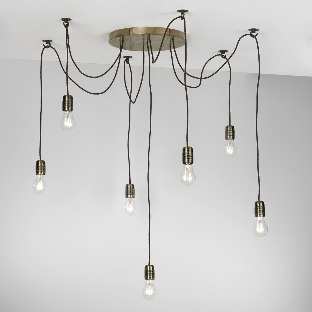 David hunt lighting huckleberry 7 light ceiling pendant fitting in bronze finish huc3463