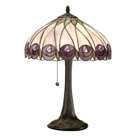 Hutchinson Tiffany Medium Table Lamp With Rose Design 64177