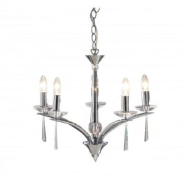 HYP0550 Hyperion Polished Chrome 5 Light Ceiling Light