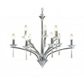 HYP1350 Hyperion Polished Chrome 9 Light Pendant