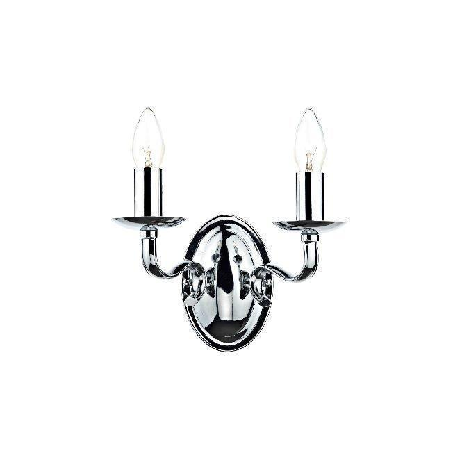 Dar Lighting IBE0950 Iberia 2 Light Chrome Wall Bracket