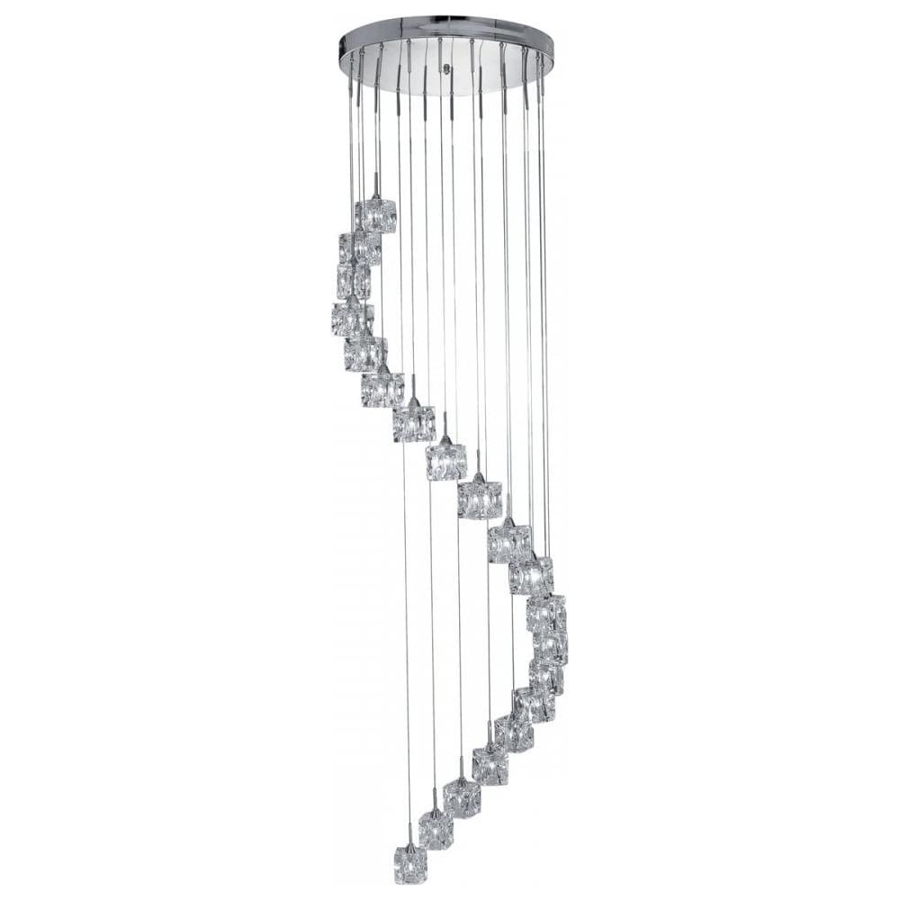 searchlight ice cube contemporary 20 light multi drop. Black Bedroom Furniture Sets. Home Design Ideas