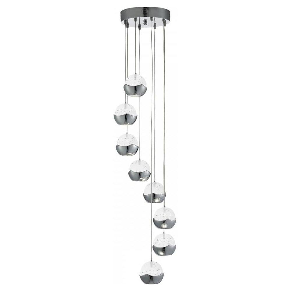 Searchlight Iceball Modern 8 Light Multi Drop Ceiling